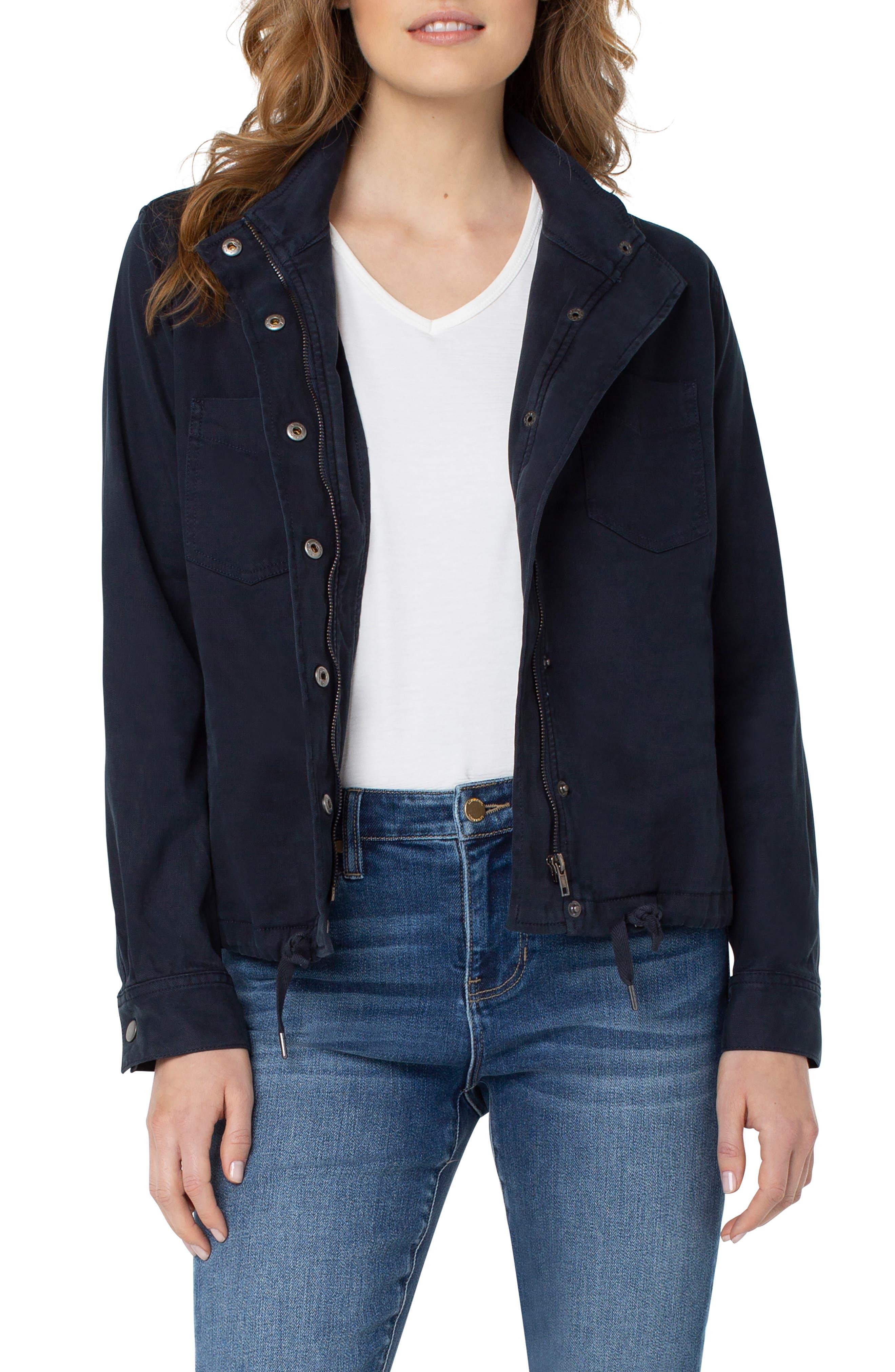 Stretch Cotton Blend Jacket