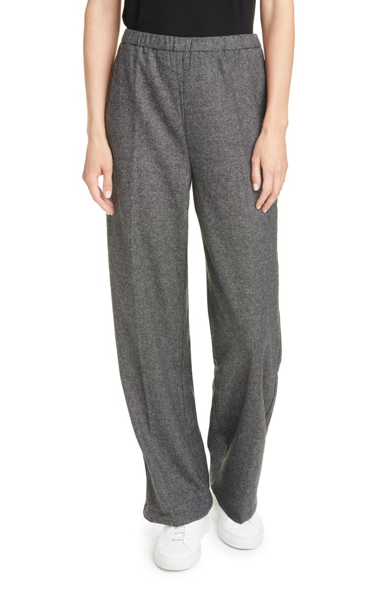 EILEEN FISHER Tapered Ankle Pants, Main, color, ASH