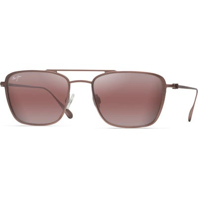 Maui Jim Ebb & Flow 5m Polarized Navigator Sunglasses - Brown Red Satin