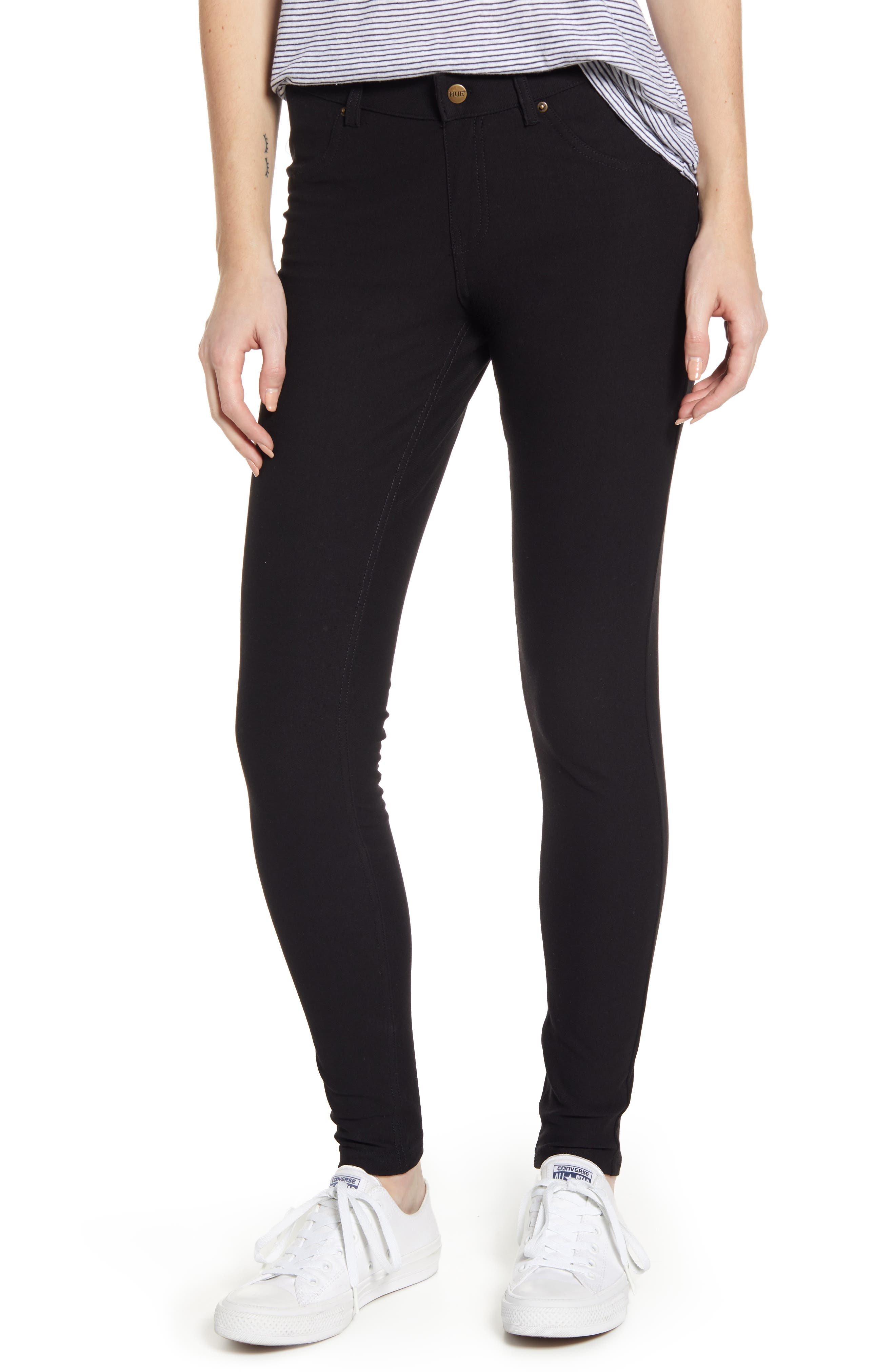Hue Essential Denim Leggings, Black