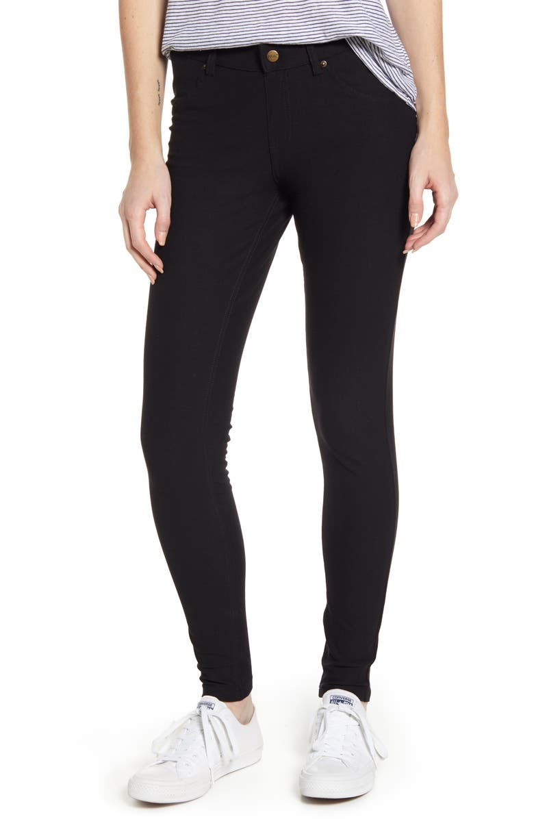 HUE Essential Denim Leggings, Main, color, 001