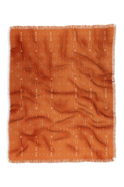 Image of Deny Designs Grace Saona Pattern Terracota Woven Throw Blanket