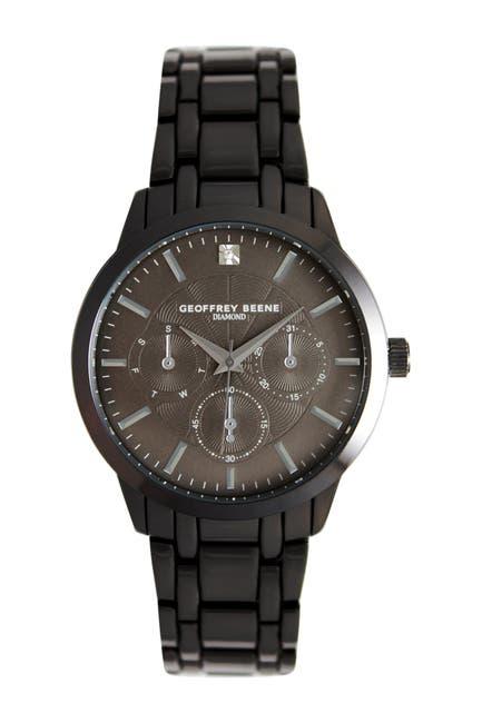 Image of Geoffrey Beene Men's Chronograph Diamond Bracelet Watch, 41mm - 0.001 ctw