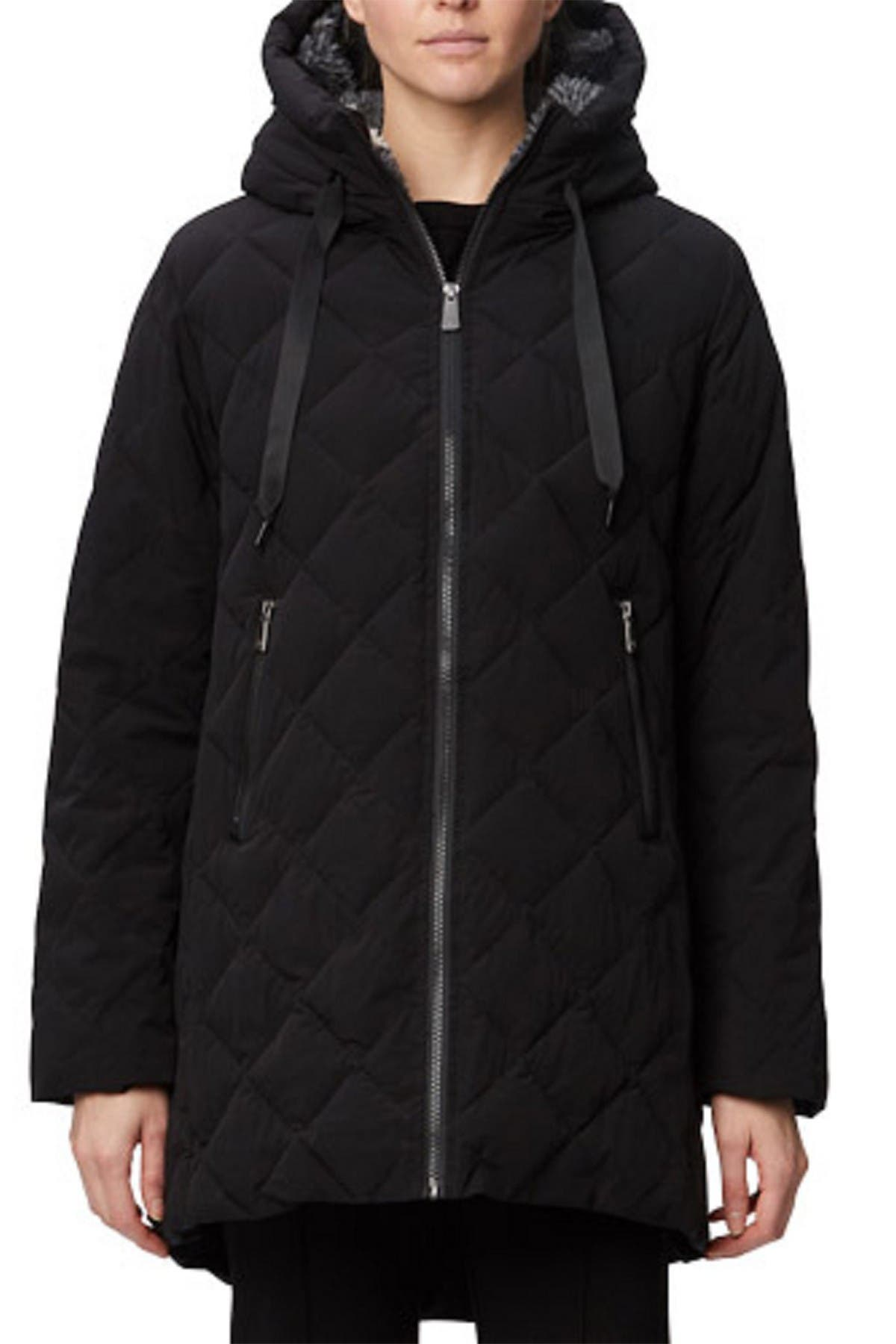 Image of Rainforest Diamond Faux Shearling Lined Quilted Thermoluxe A-Shape Walker Jacket