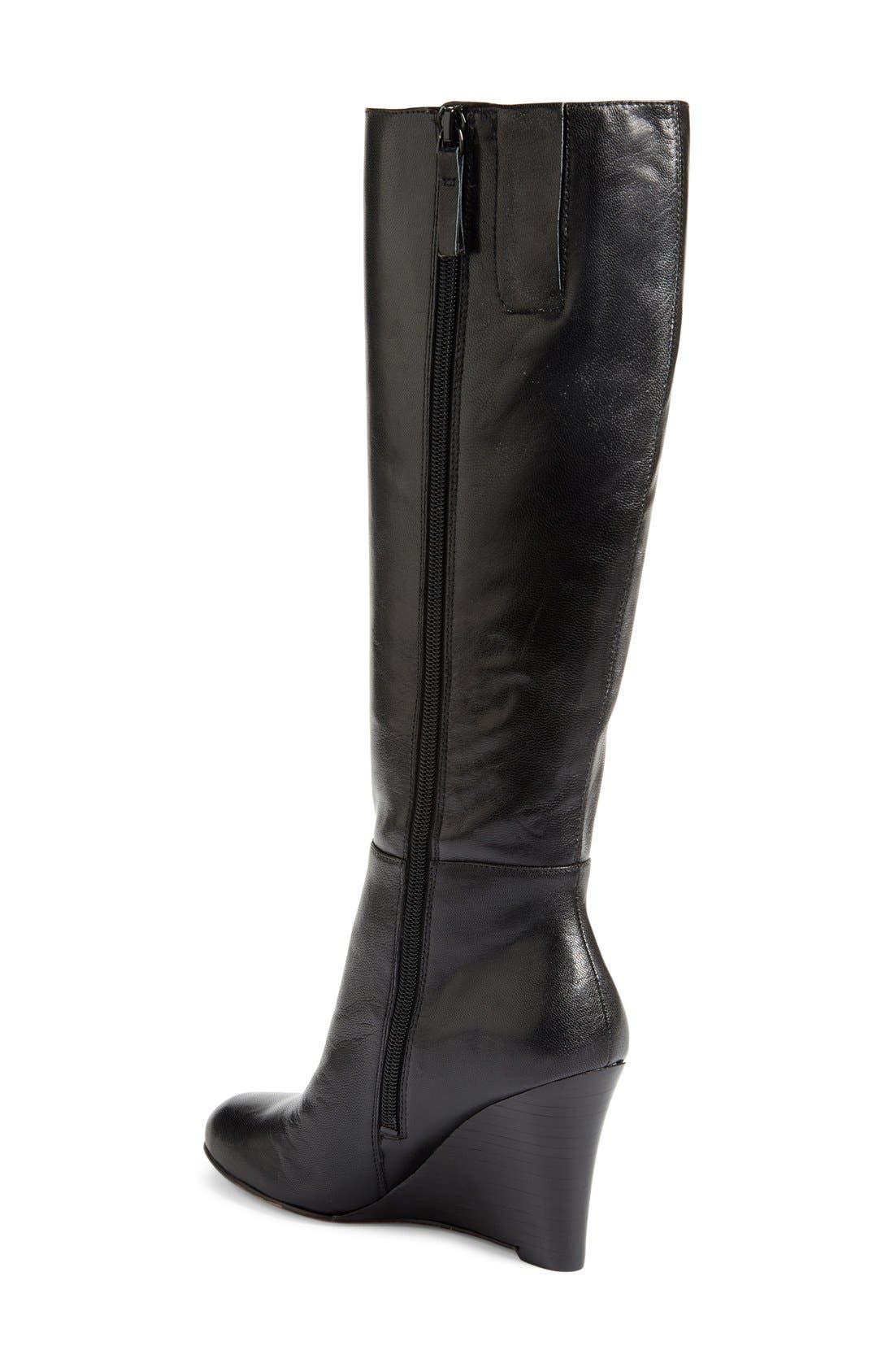 ,                             'Oran' Tall Wedge Boot,                             Alternate thumbnail 12, color,                             003