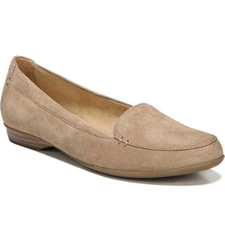 NATURALIZER 'Saban' Leather Loafer, Main, color, OATMEAL SUEDE