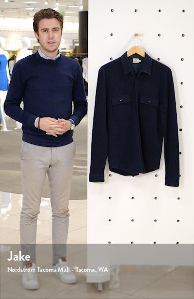 Regular Fit Button-Up Wool Sweater Shirt Jacket, sales video thumbnail
