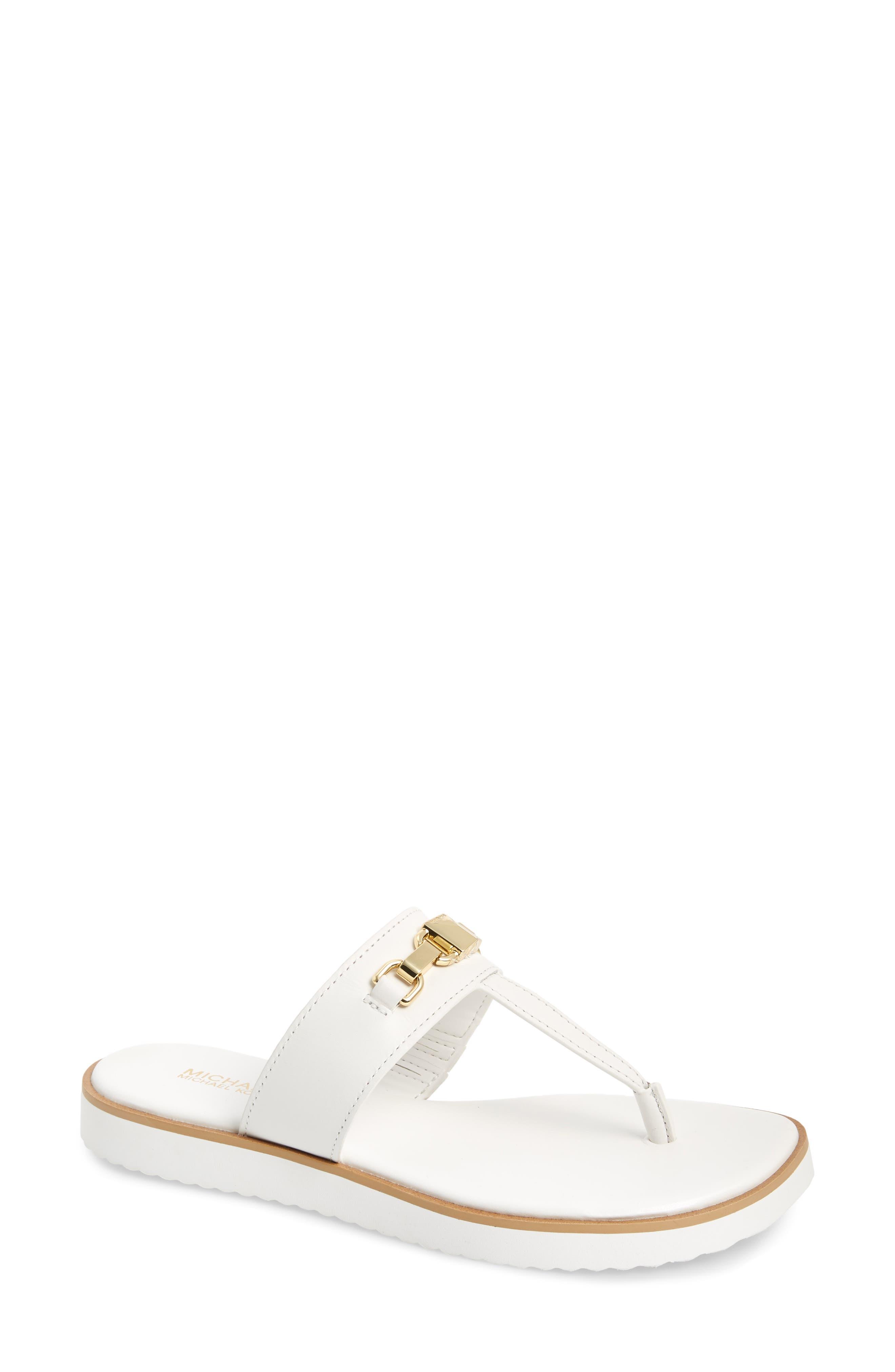 Michael Michael Kors Charlton Flip Flop- White