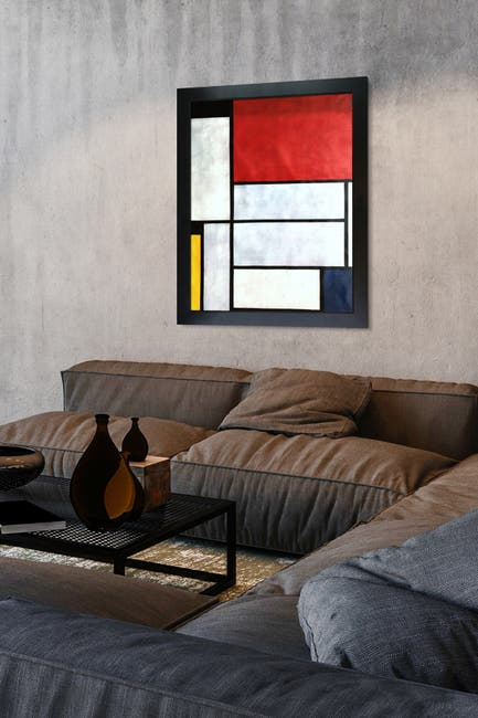Image of Overstock Art Tableau I - Framed Oil Reproduction of an Original Painting by Piet Mondrian