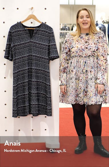 Texture Bouclé Tweed A-Line Dress, sales video thumbnail