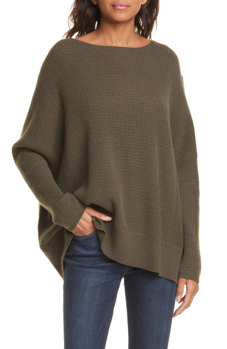 NORDSTROM SIGNATURE Oversize Cashmere Sweater, Main, color, 301