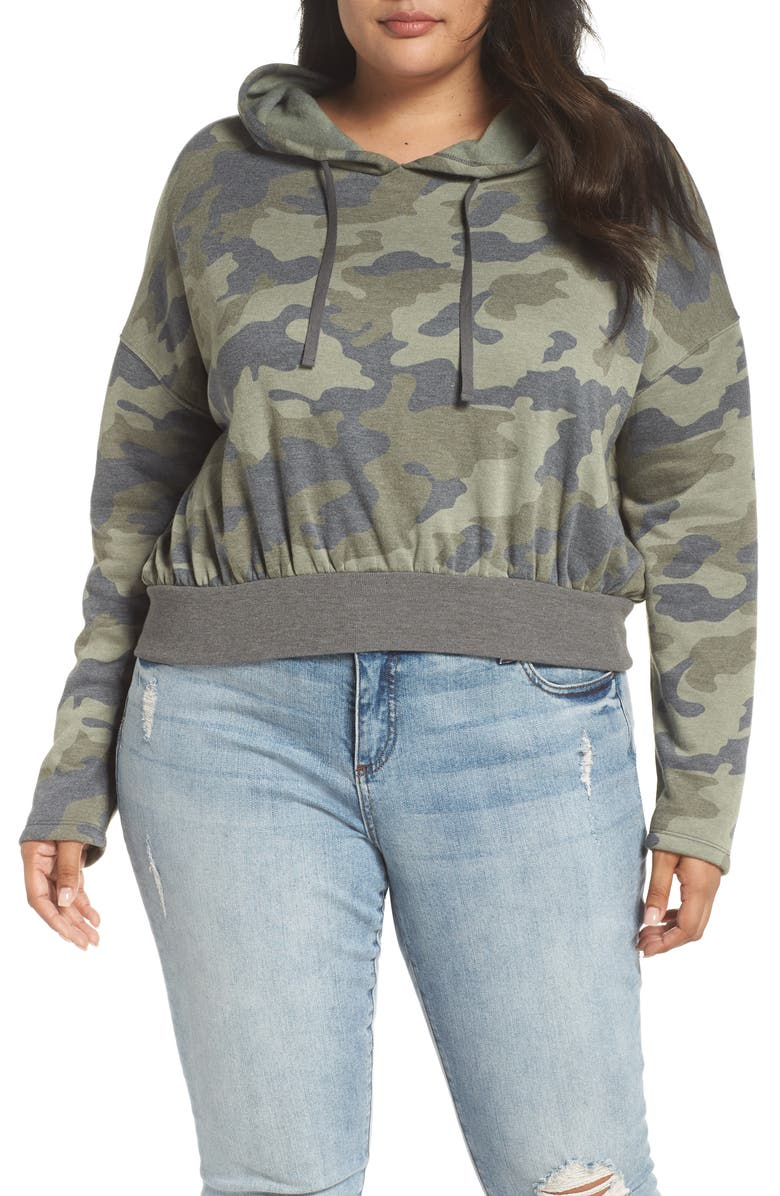 BP. Crop Hoodie, Main, color, OLIVE CAMO