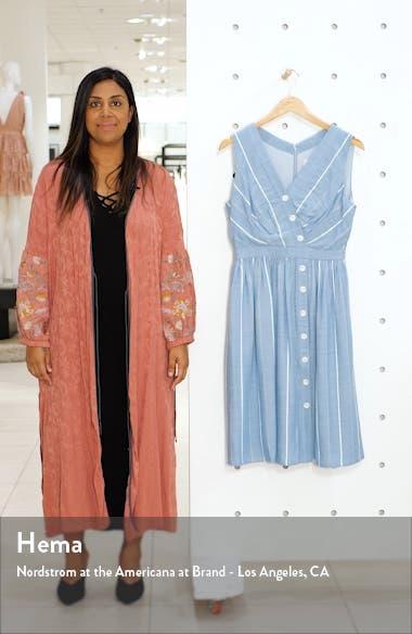 Jill Button Front Surplice A-Line Dress, sales video thumbnail