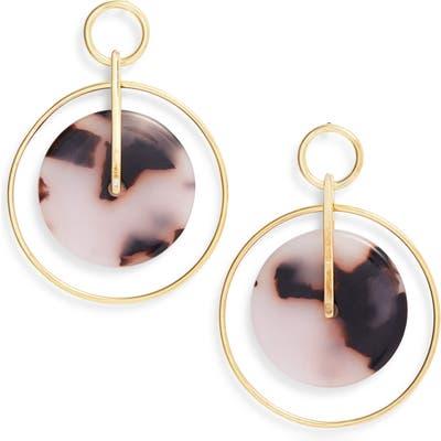 Argento Vivo Femme Tortoise Double Circle Drop Earrings