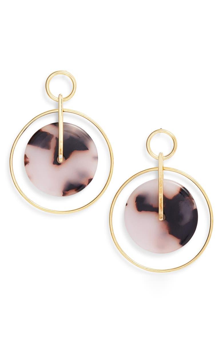 ARGENTO VIVO Femme Tortoise Double Circle Drop Earrings, Main, color, 710