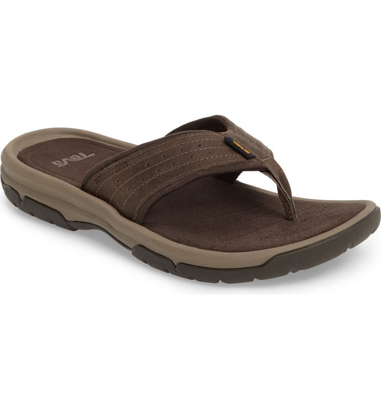 TEVA Langdon Flip Flop, Main, color, WALNUT