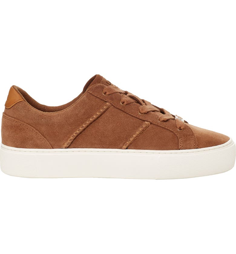 UGG<SUP>®</SUP> Dinale Sneaker, Main, color, CHESTNUT SUEDE