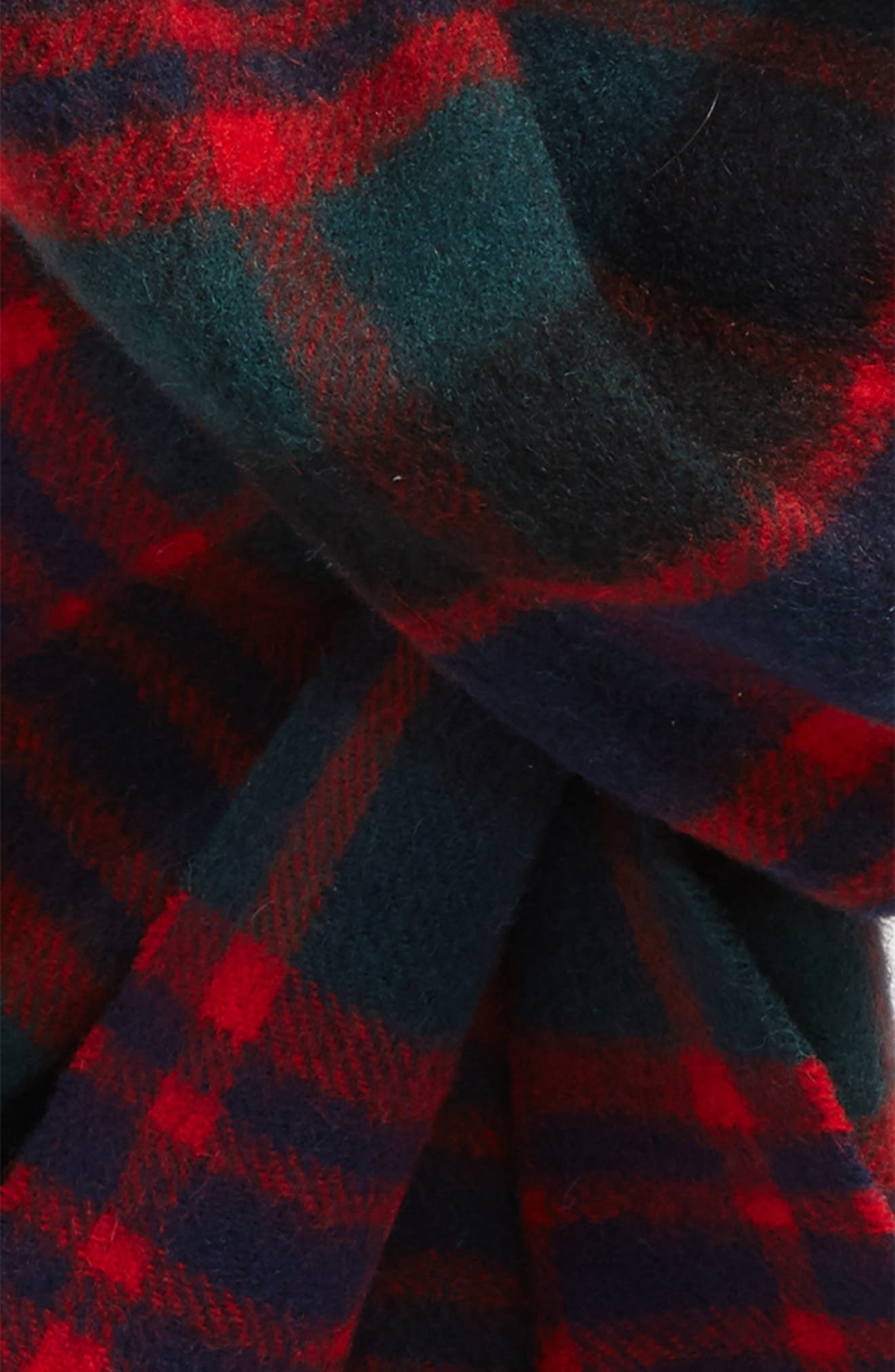 ,                             New Check Lambswool & Cashmere Scarf,                             Alternate thumbnail 9, color,                             301