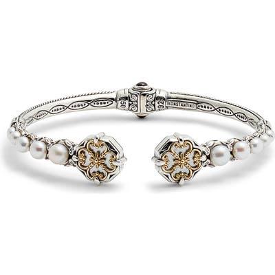 Konstantino Hestia Pearl Hinge Cuff Bracelet