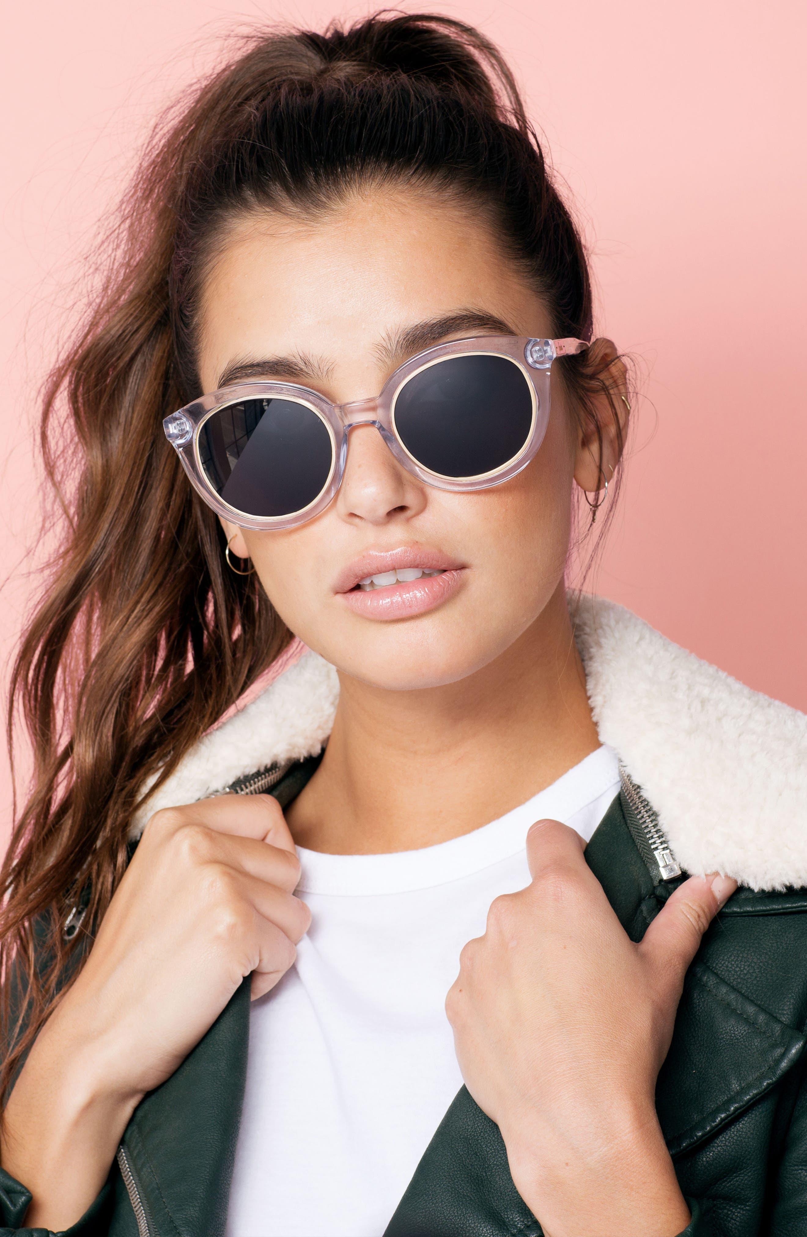 ,                             Holland 50mm Gradient Round Sunglasses,                             Alternate thumbnail 8, color,                             100