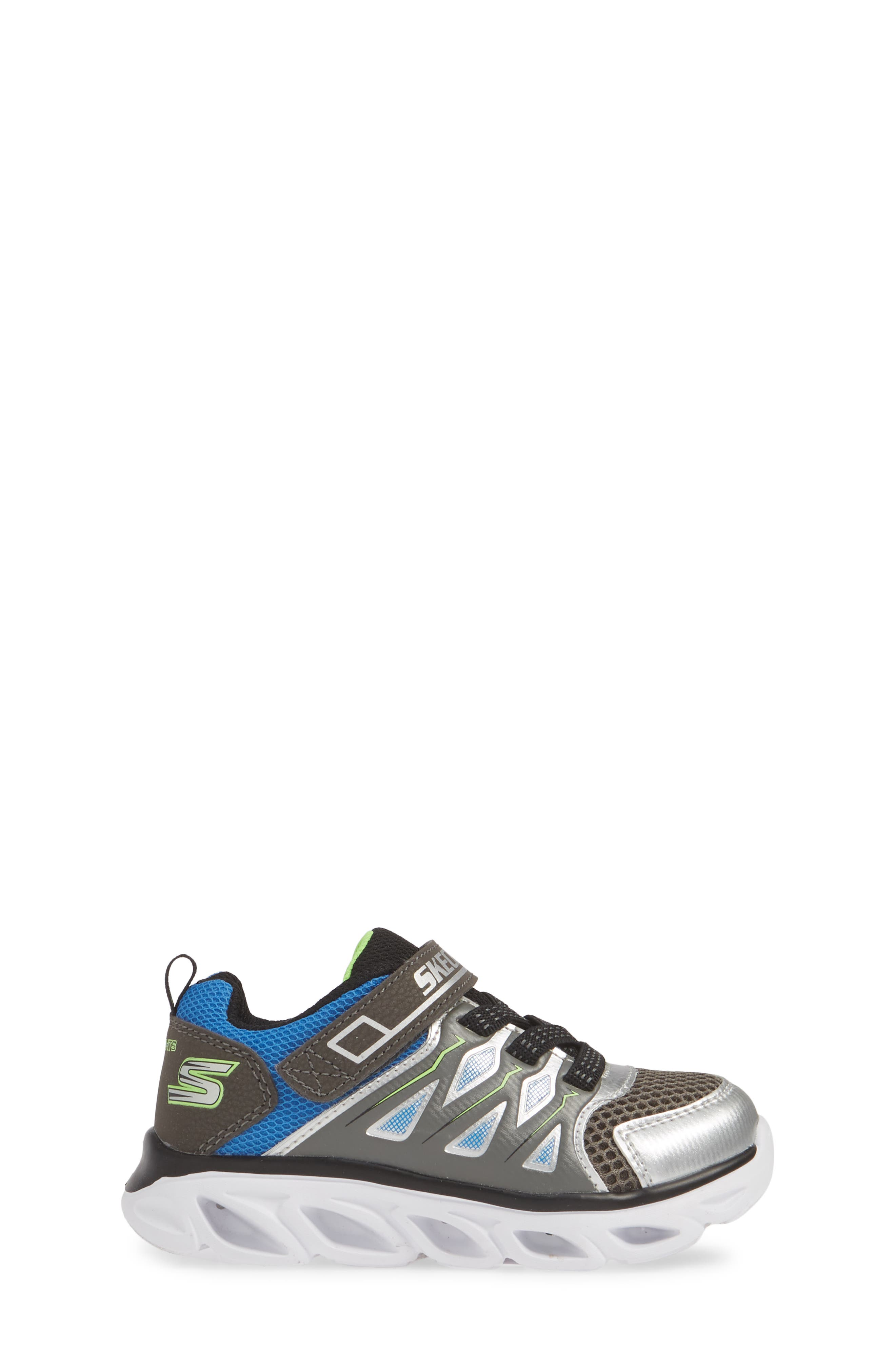 ,                             Hypno-Flash 3.0 Light-Up Sneakers,                             Alternate thumbnail 3, color,                             SILVER/ BLUE