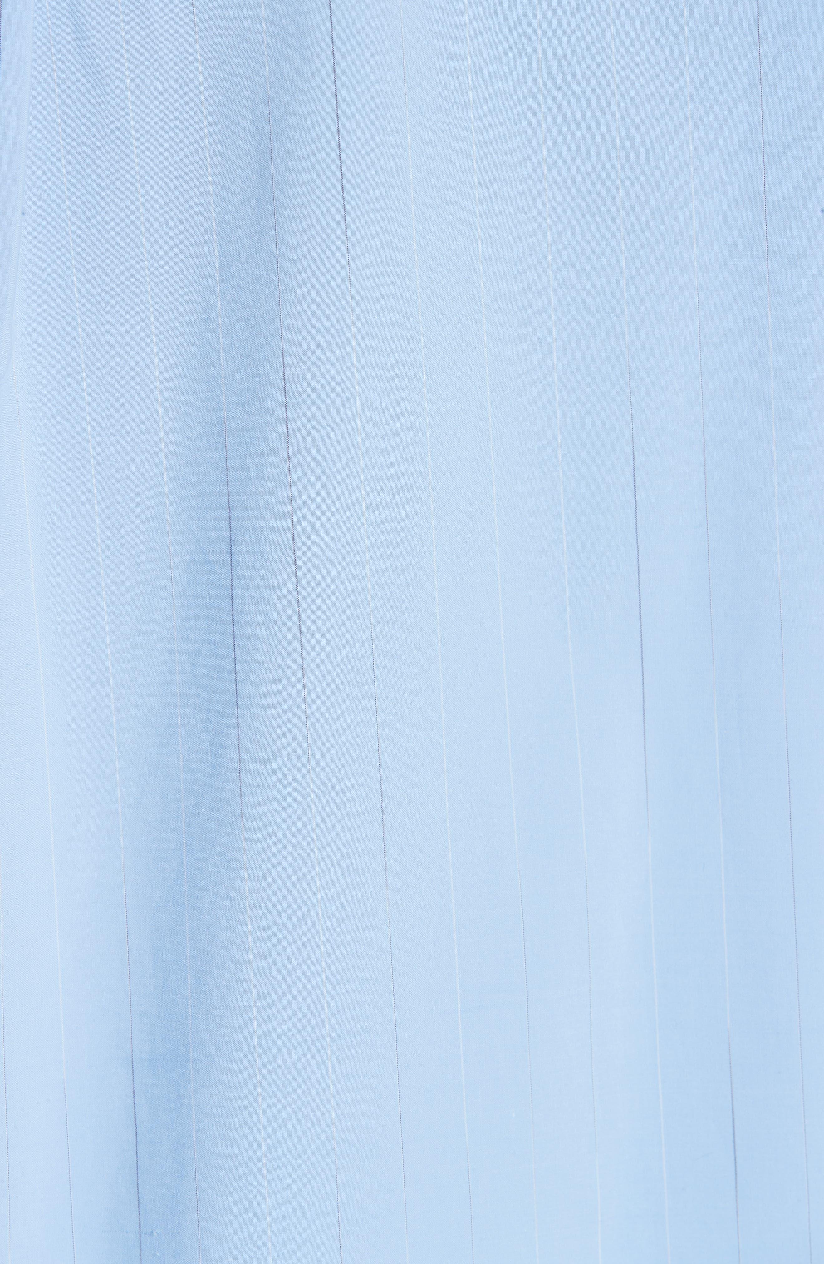 ,                             Oversize Boyfriend Shirt,                             Alternate thumbnail 5, color,                             BLUE RAIN STRIPE WITH WHITE
