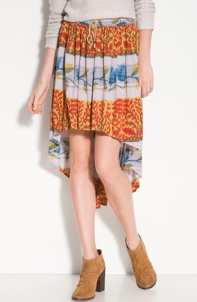 FREE PEOPLE 'Zen Garden' Vintage Print Skirt, Main, color, 800
