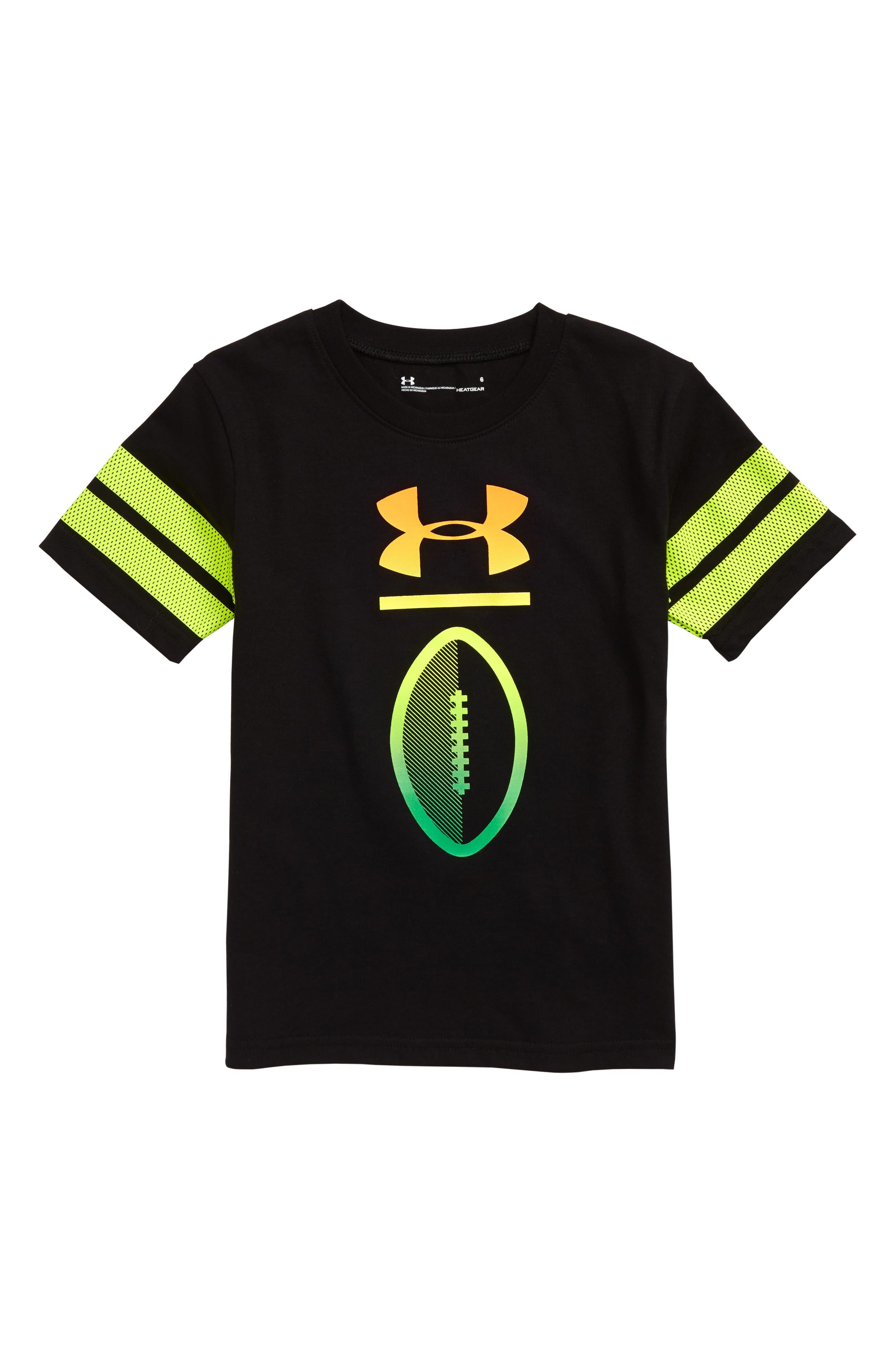 Boys Under Armour Heatgear Varsity Football TShirt Size 6  Black