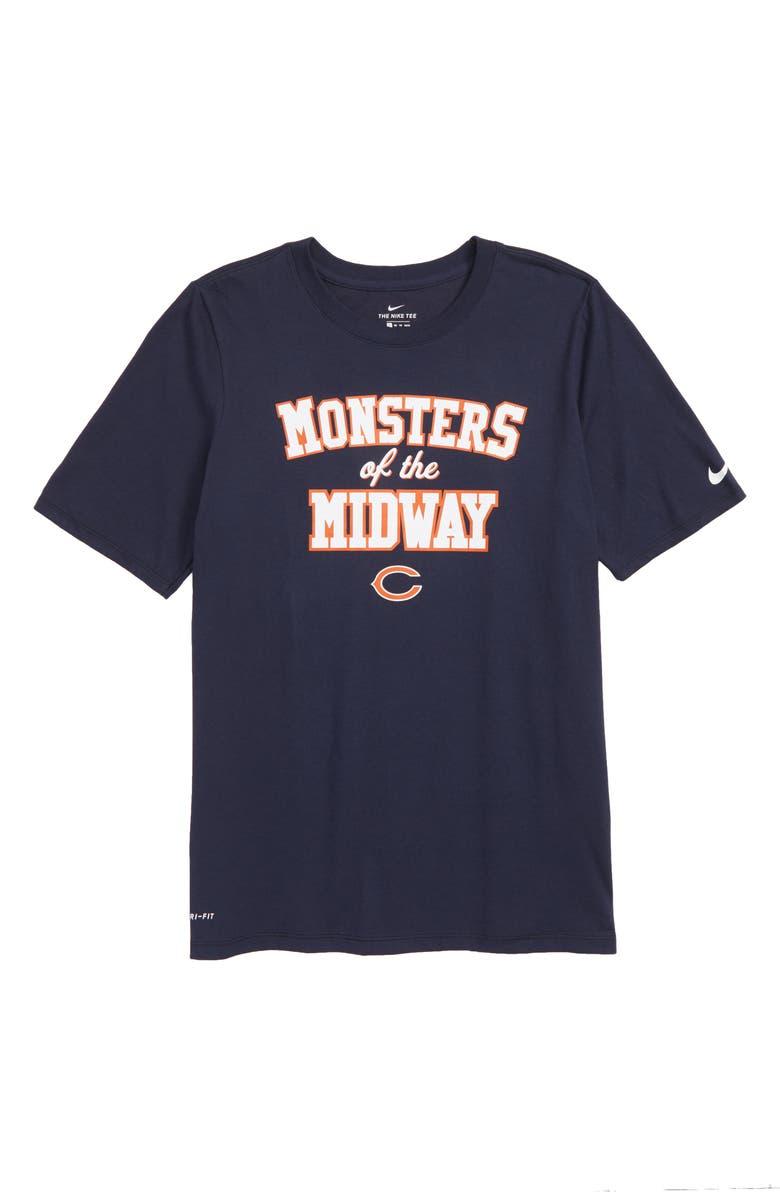 size 40 8abac 45e70 Nike Dry Hyperlocal NFL Chicago Bears T-Shirt (Big Boys ...
