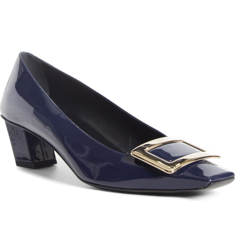 ROGER VIVIER Belle Vivier Buckle Pump, Main, color, NAVY