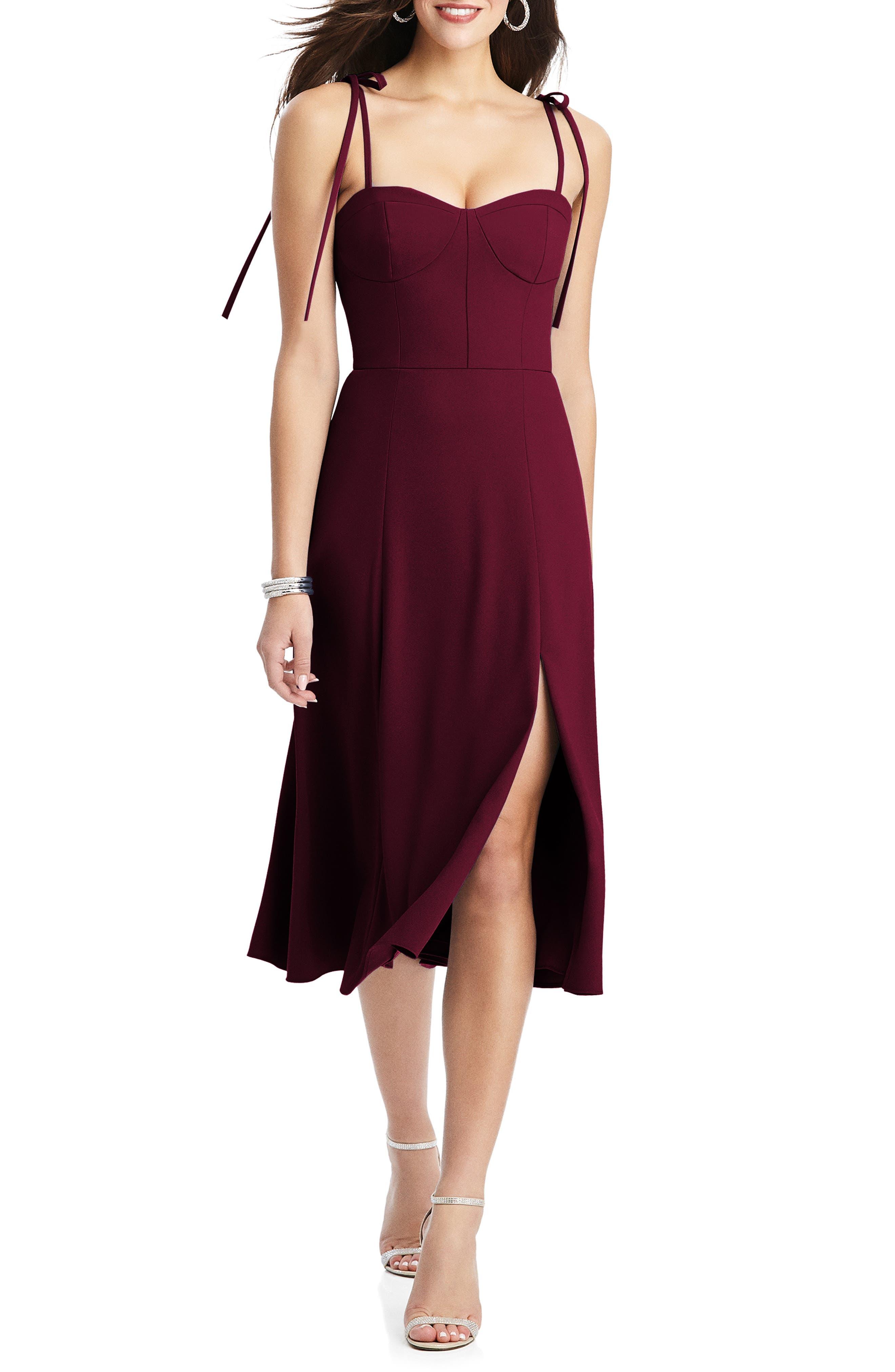 Bustier Crepe A-Line Dress