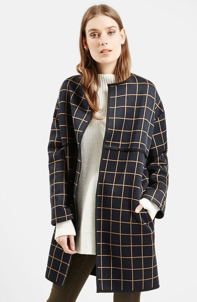 TOPSHOP Check Topper, Main, color, 410