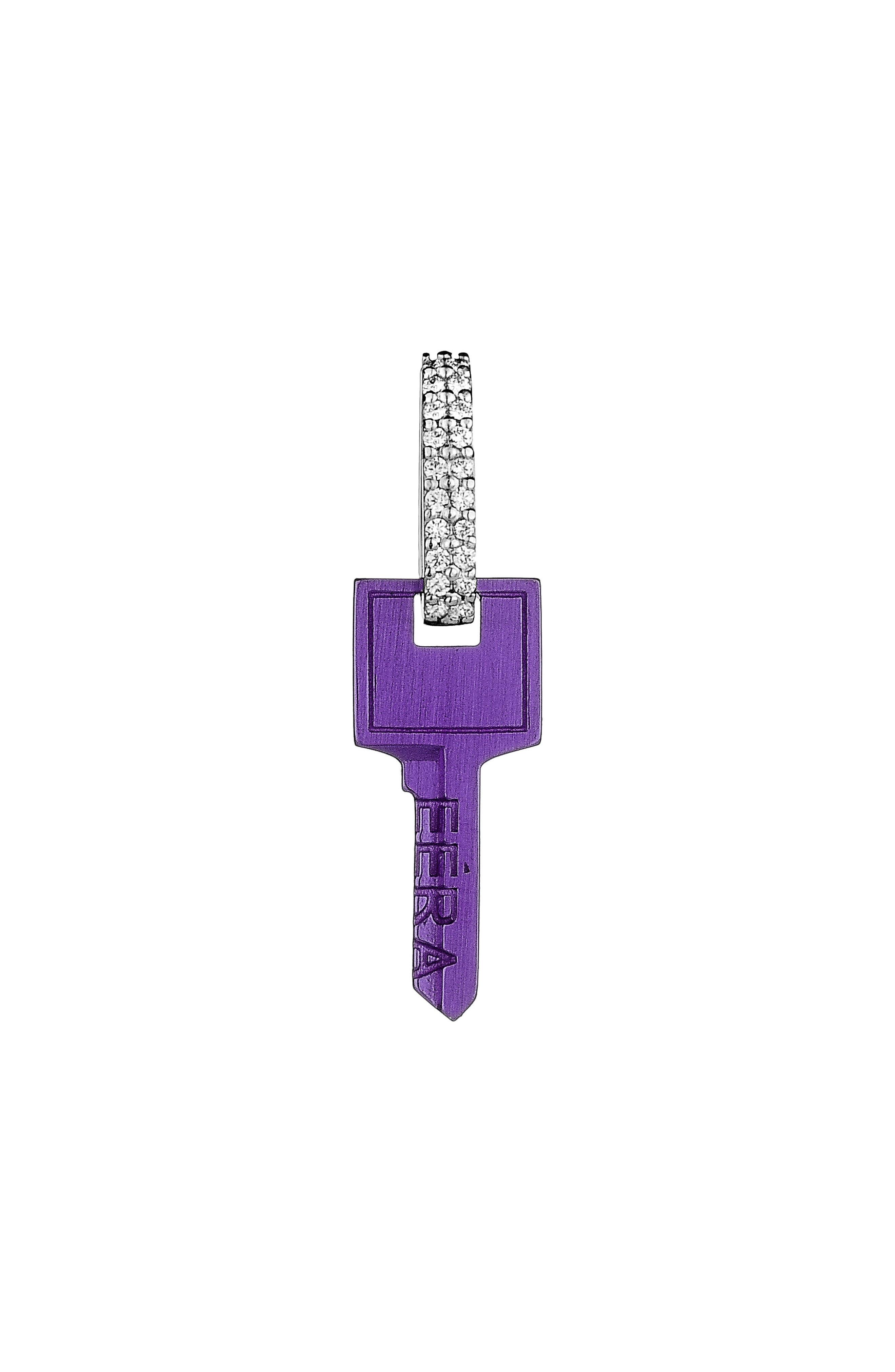 Women's Eera Single Diamond Key Drop Earring