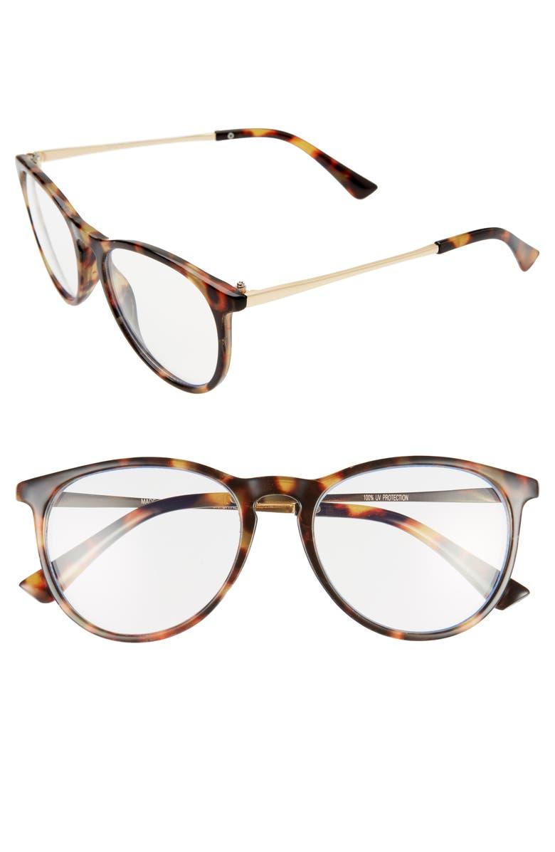 BP. 55mm Blue Light Blocking Glasses, Main, color, 210