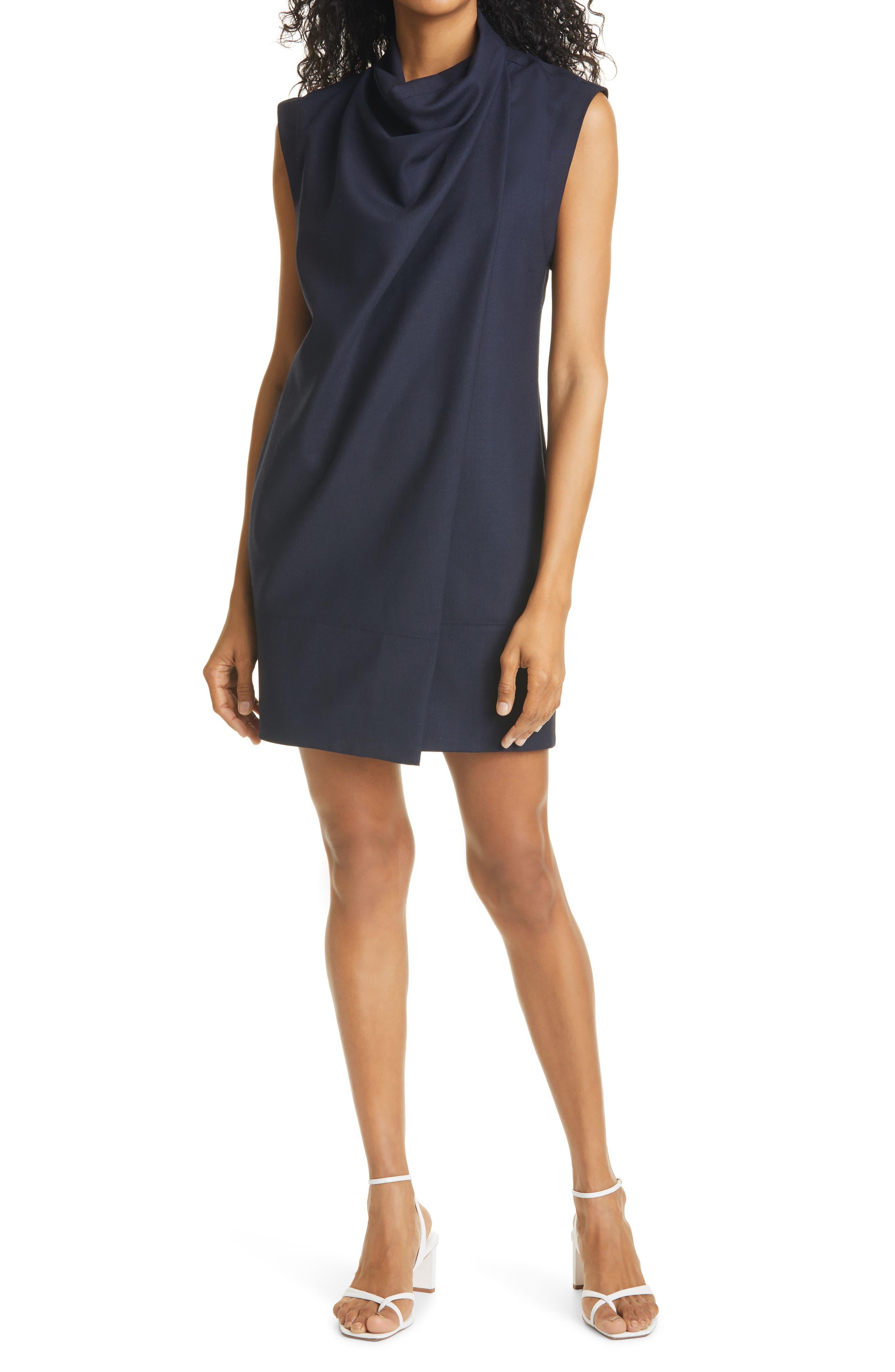 Cowl Neck Shift Dress