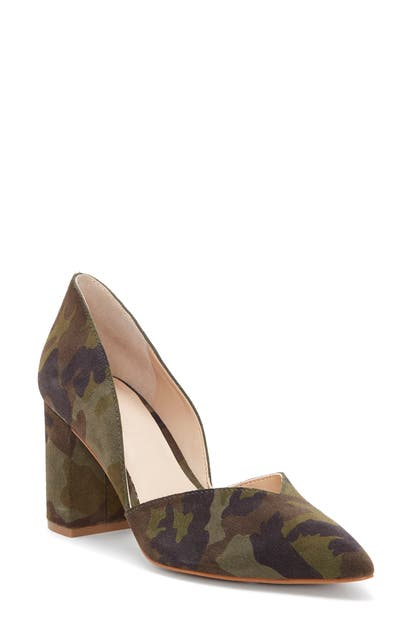 1.State Selim Pointed Toe Pump In Olive Multi
