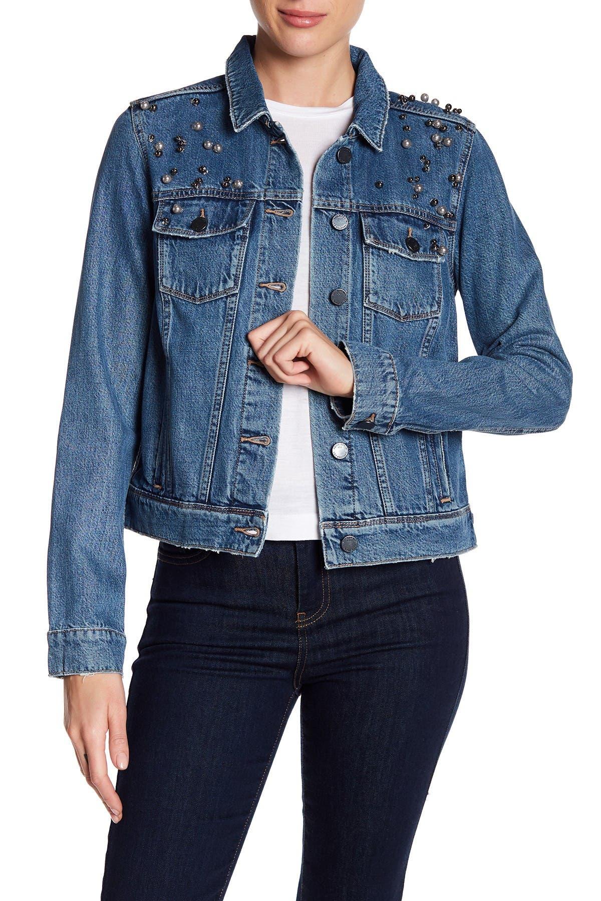 Image of PAIGE Rowan Embellished Denim Jacket