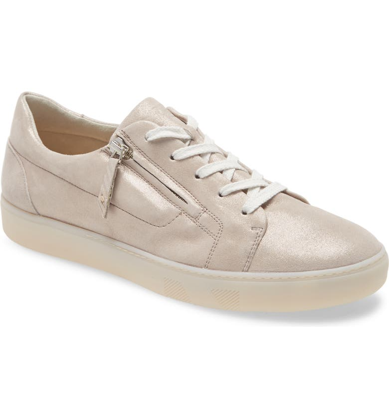 PAUL GREEN Carla Lace-Up Sneaker, Main, color, CACHEMIRE MET SUEDE