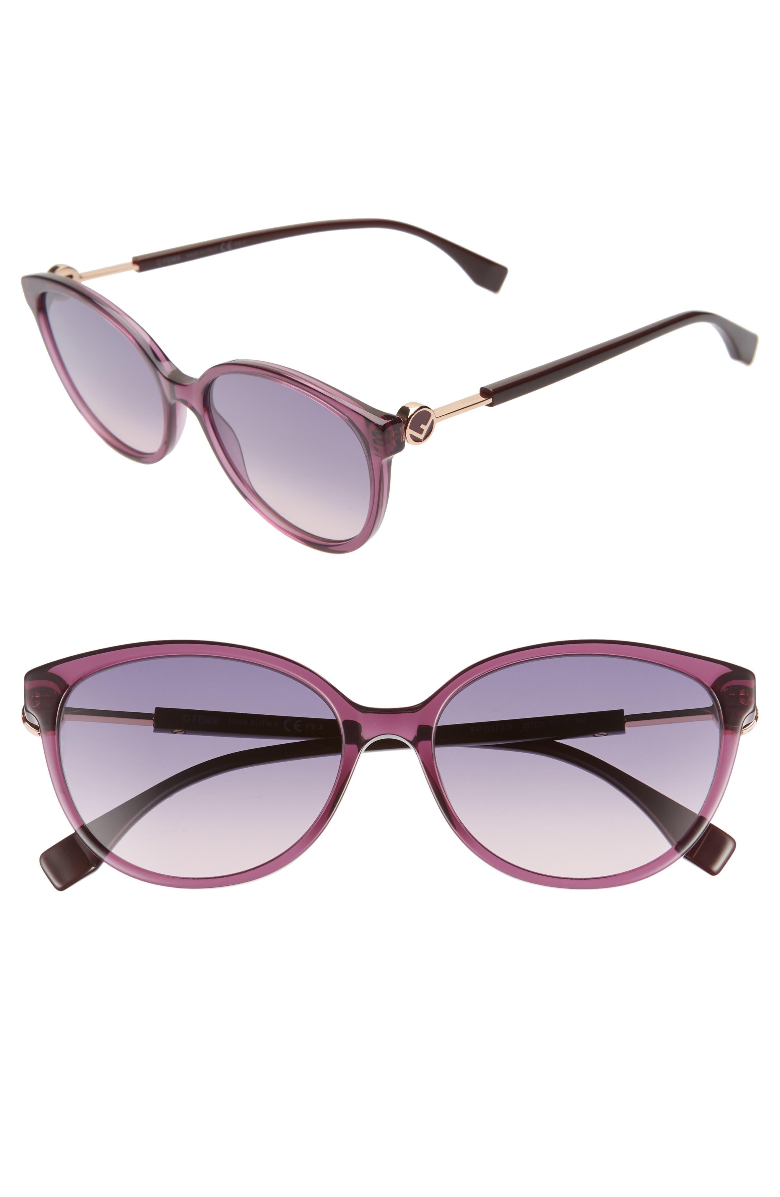 Image of FENDI 57mm Cat Eye Sunglasses