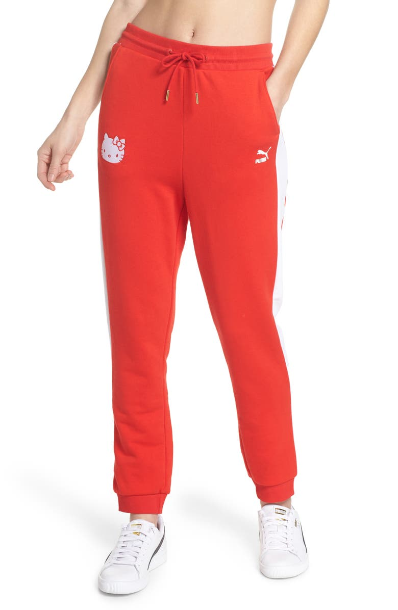 a5ef86790 x HELLO KITTY Track Pants, Main, color, 600