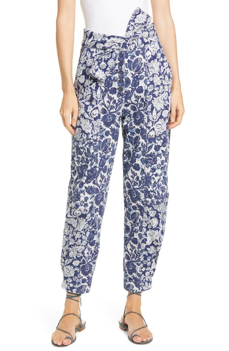 ULLA JOHNSON Floral Print Storm Jeans, Main, color, FLORAL PATCHWORK