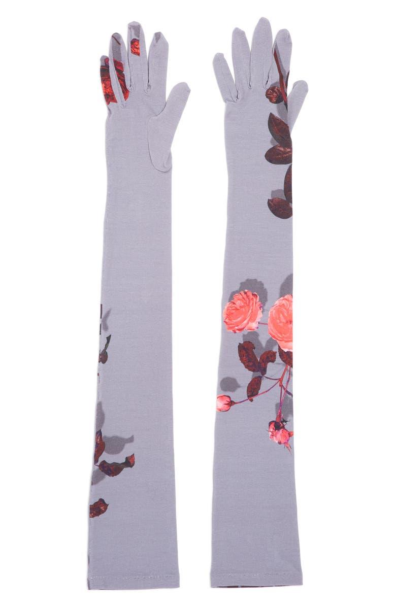 DRIES VAN NOTEN Floral Gloves, Main, color, 400