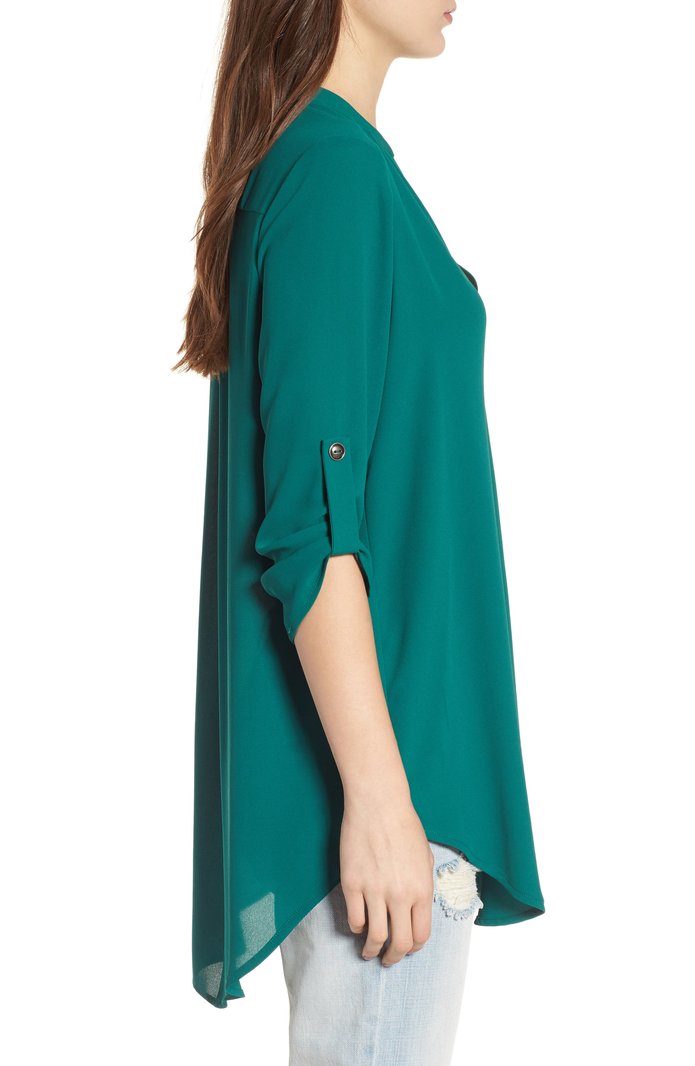 ,                             Perfect Roll Tab Sleeve Tunic,                             Alternate thumbnail 59, color,                             317