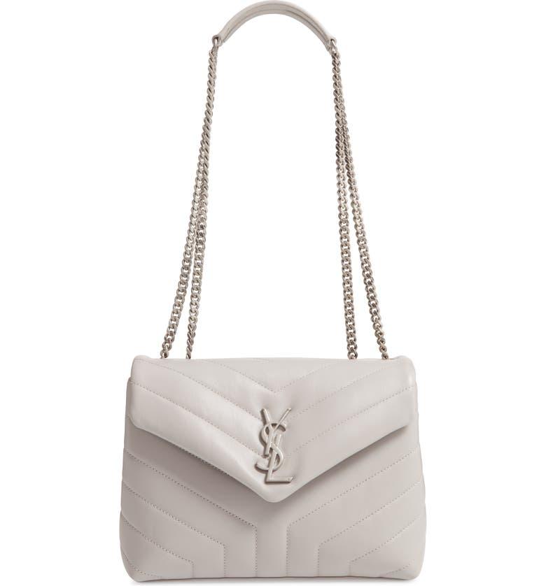 SAINT LAURENT Small Loulou Matelassé Leather Shoulder Bag, Main, color, 033