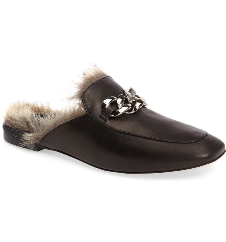 JEFFREY CAMPBELL Ravis Faux Fur Mule, Main, color, 001