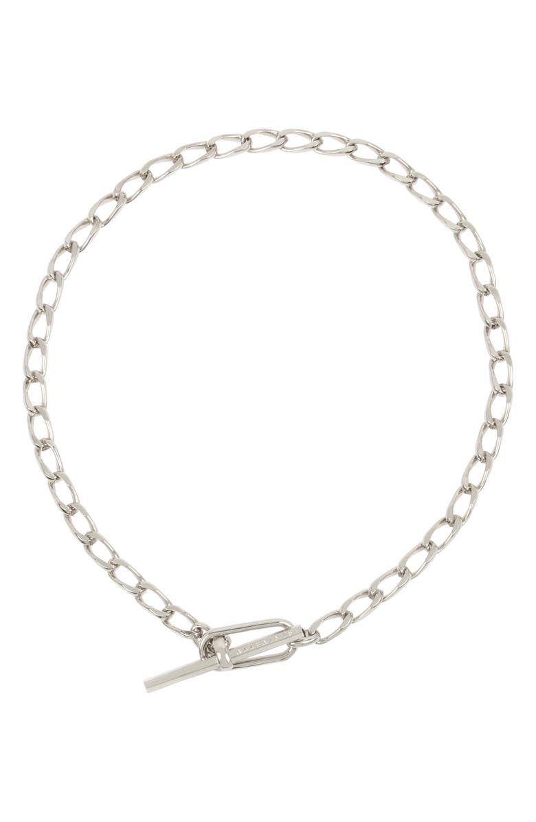 ALLSAINTS Short Toggle Chain Necklace, Main, color, SILVER