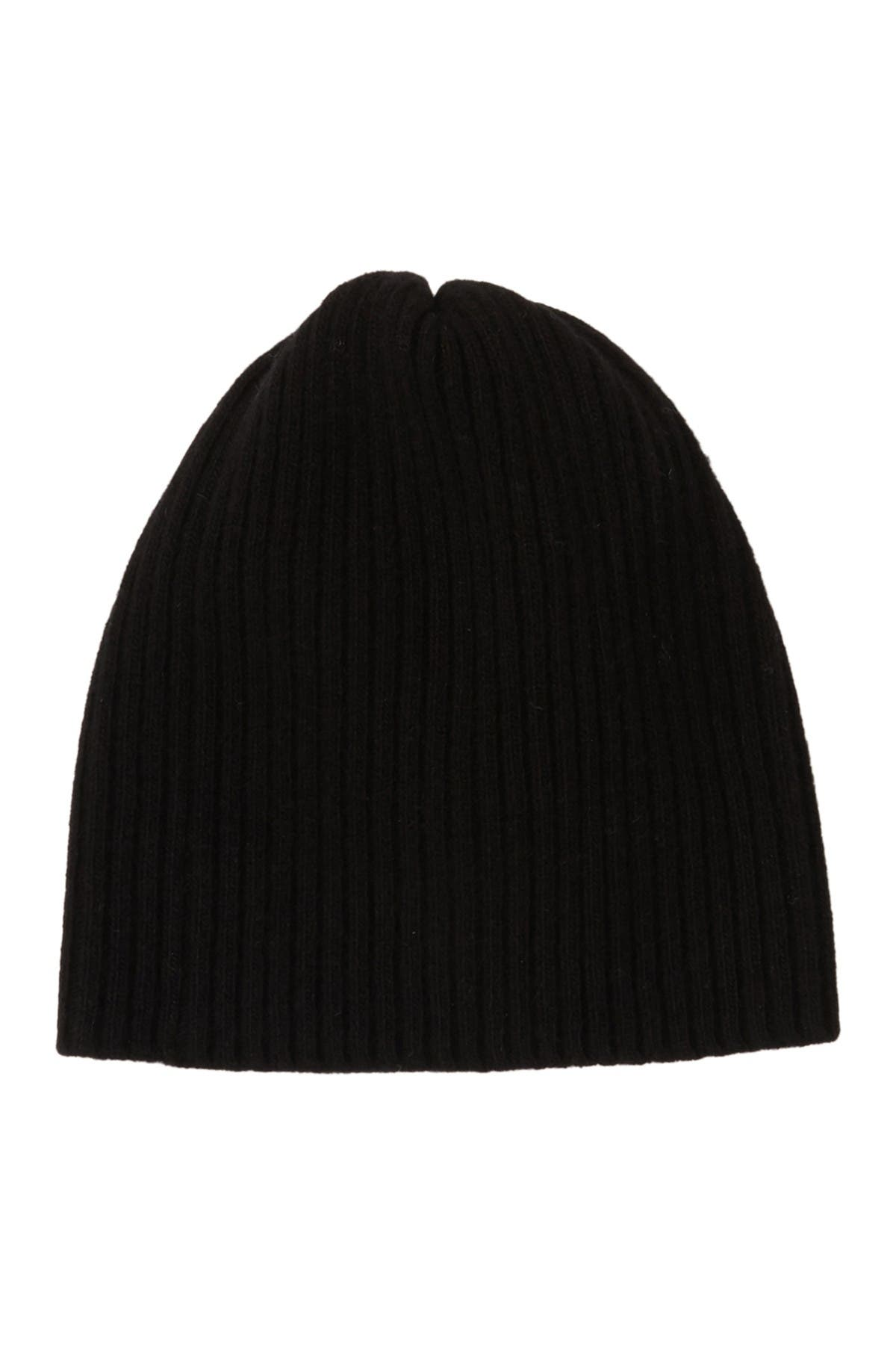 Image of Portolano Cashmere Ribbed Knit Beanie