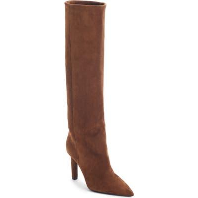 Saint Laurent Kate Straight Knee High Boot, Brown