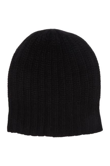 Image of Portolano Ribbed Cashmere Knit Beanie