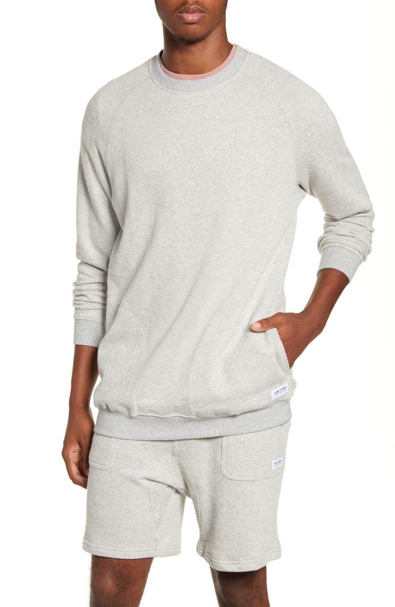 BANKS JOURNAL Forum Deluxe Fleece Crewneck Sweatshirt, Main, color, BONE